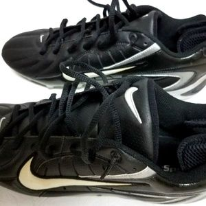 NIKE Mens Size 12.5 Cleats Super Speed Black White
